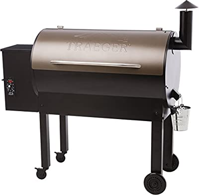 Traeger Grills TFB65LZBC Texas Elite 34 Wood Pellet Grill & Smoker, 646 Sq. In. Cooking Capacity, Bronze,Black and Bronze