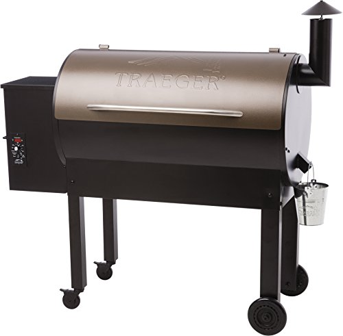 Traeger TFB65LZBC Grills Texas Elite 34 Wood Pellet Grill and Smoker - Grill, Smoke, Bake, Roast, Braise, and BBQ (Bronze)