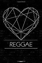 Reggae Planner: Reggae Geometric Heart Music Calendar 2020 - 6 x 9 inch 120 pages gift