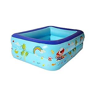 PPLAS 3 Capas 115/13/13/175cm niños bañera bebé Uso casero Remo Inflable Cuadrado Piscina Adultos niños al Aire Libre Interior