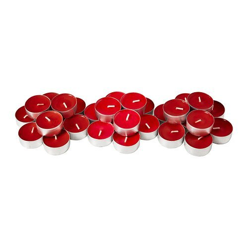 IKEA SINNLIG Scented Tealight, Sweet Berries, Red 30 pack