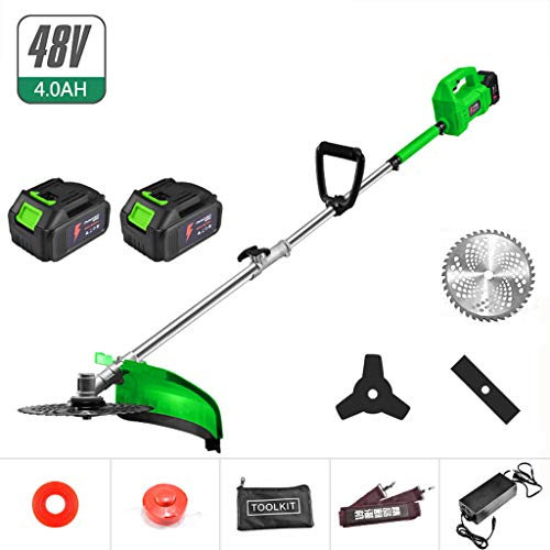 Best Price QINXUESHOP Cordless Grass Brush Cutter & String Trimmer Lightweight Weedeater Professiona...