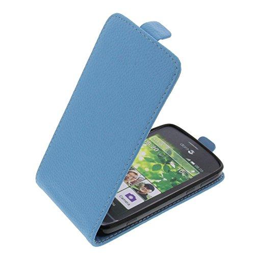 foto-kontor Tasche für Doro Liberto 820 Smartphone Flipstyle Schutz Hülle hellblau