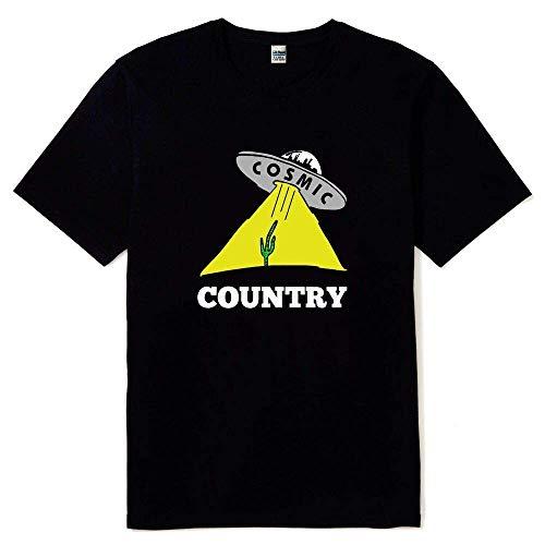 New Gram Parsons Cosmic Country Black T Shirt Sizes S M L XL 2XL 3XL Reprint