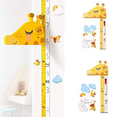 szlsl88 Universal-Messlatte für Kinder, Größenmessung für Kinder, Kinderwachstumstabelle für Kinder, 3D-Wandaufkleber Kinder-Messlatte für zu Hause dekorativ