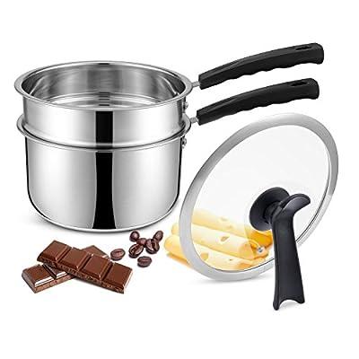 JKsmart Stainless Steel Double Boiler Pot