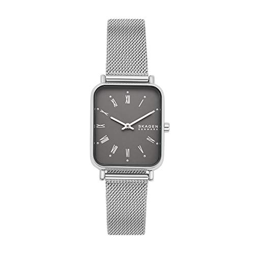 Skagen Women's Ryle Quartz Analog Stainless Steel and Stainless Steel Mesh Watch, Color: Silver...