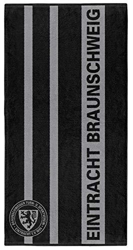 Eintracht Braunschweig Handtuch, Duschtuch Streifen (70 x 140 cm)