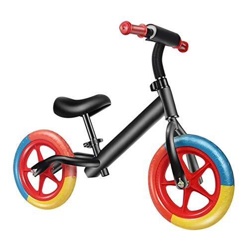Bicicleta de equilibrio para niños, Bicicleta de equilibrio de 12 pulgadas para niños pequeños sin pedal, Neumáticos sin inflación Asiento ajustable, rueda antivibración, para edades de 2, 3, 4, 5
