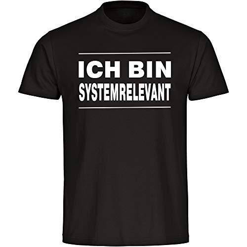 Coole-Fun-T-Shirts - Maglietta da uomo con scritta in lingua tedesca 'Ich Bin Systemrelevantantantantantantantantant', taglie S - 5XL, colore: Nero Nero  XXXL