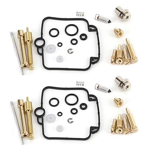 Kit de reconstrucción de reparación de carburador, 2 juegos Kit de sello de inyección de reconstrucción de reparación de carburador con componentes de sellado aptos para Su-zuki GS500E