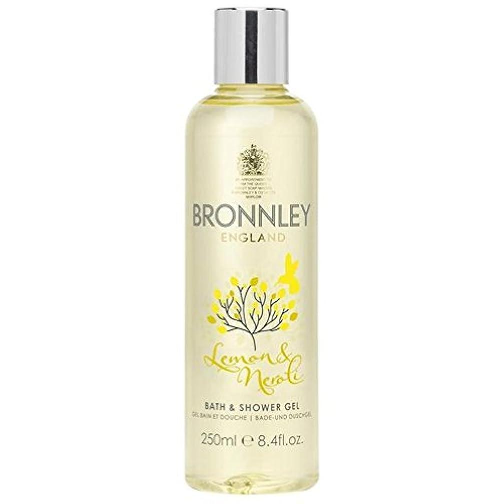 風刺好戦的なたぶんレモン&ネロリバス&シャワージェル250ミリリットル x2 - Bronnley Lemon & Neroli Bath & Shower Gel 250ml (Pack of 2) [並行輸入品]