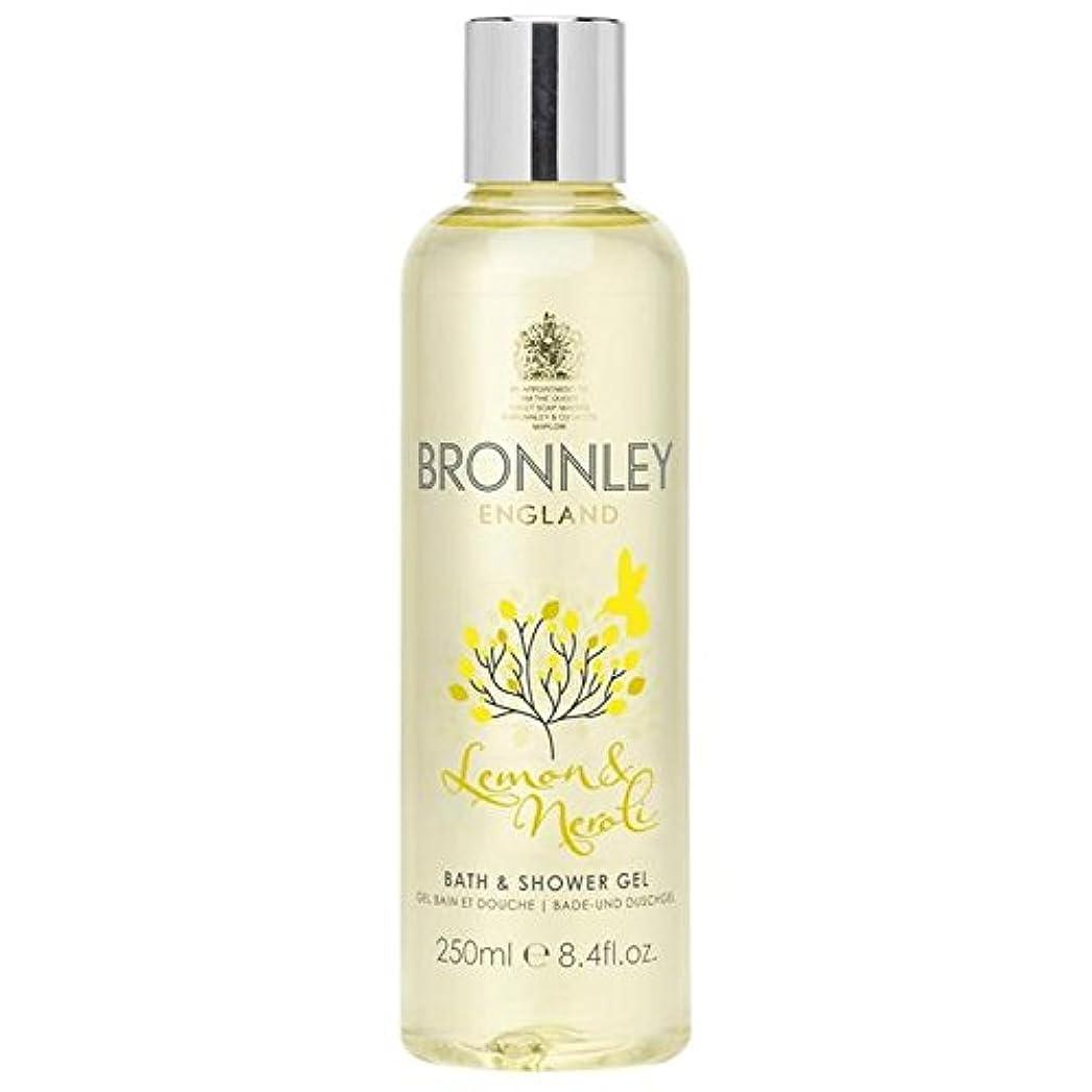 役員温帯クレデンシャルレモン&ネロリバス&シャワージェル250ミリリットル x4 - Bronnley Lemon & Neroli Bath & Shower Gel 250ml (Pack of 4) [並行輸入品]
