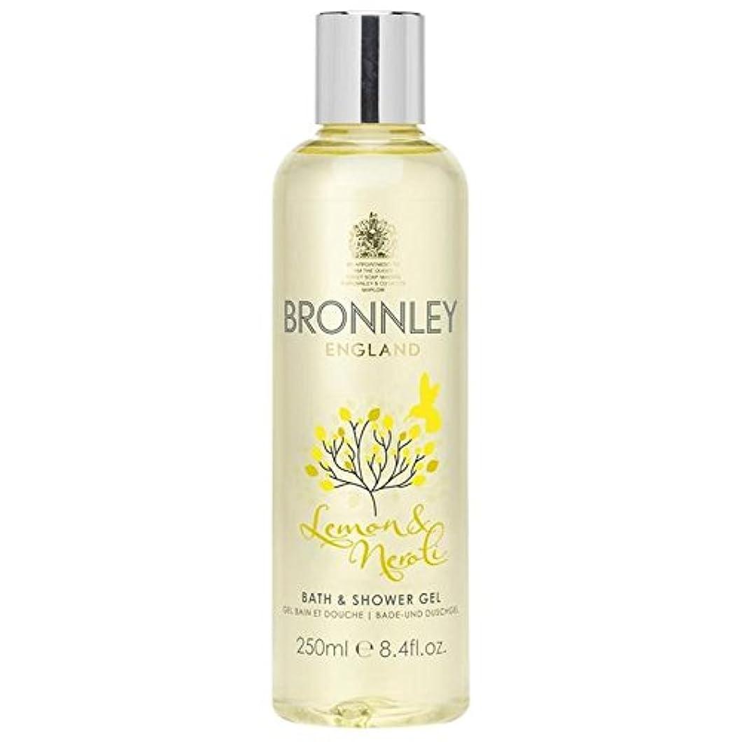 ためにサービス底レモン&ネロリバス&シャワージェル250ミリリットル x4 - Bronnley Lemon & Neroli Bath & Shower Gel 250ml (Pack of 4) [並行輸入品]
