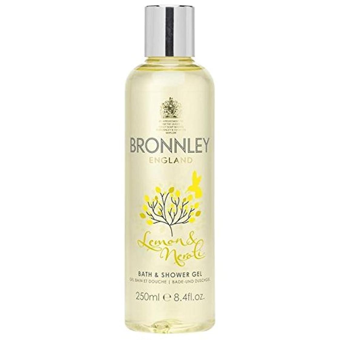 怒る一貫性のない白いレモン&ネロリバス&シャワージェル250ミリリットル x4 - Bronnley Lemon & Neroli Bath & Shower Gel 250ml (Pack of 4) [並行輸入品]
