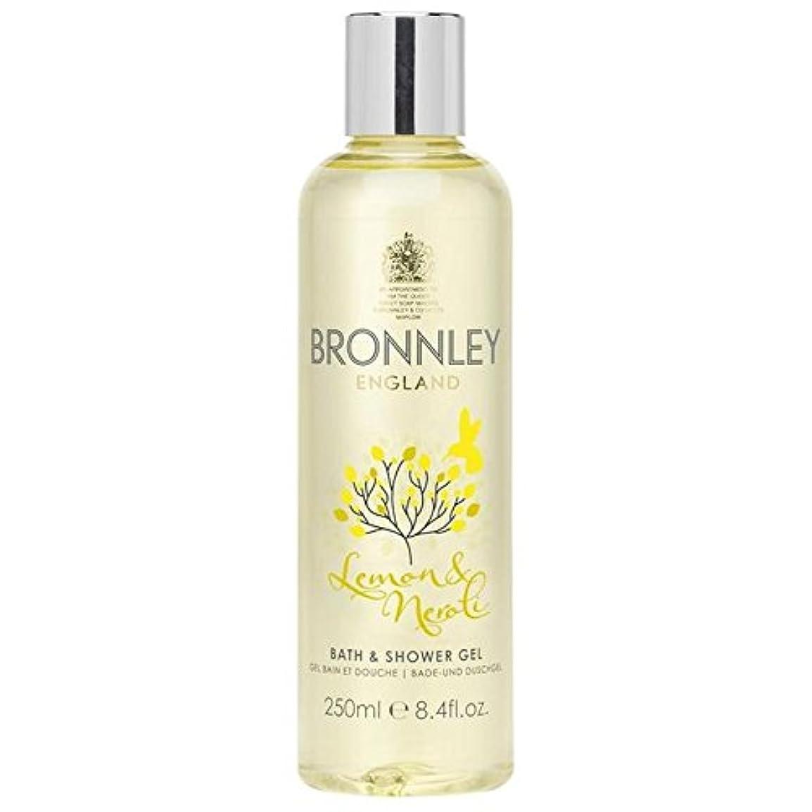 マットコメントましいレモン&ネロリバス&シャワージェル250ミリリットル x4 - Bronnley Lemon & Neroli Bath & Shower Gel 250ml (Pack of 4) [並行輸入品]