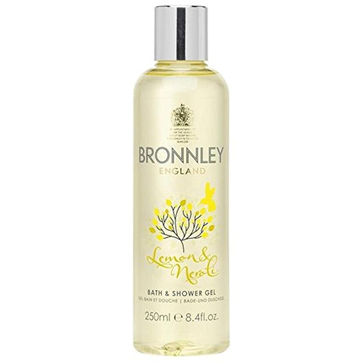 サンダース比率援助するレモン&ネロリバス&シャワージェル250ミリリットル x2 - Bronnley Lemon & Neroli Bath & Shower Gel 250ml (Pack of 2) [並行輸入品]