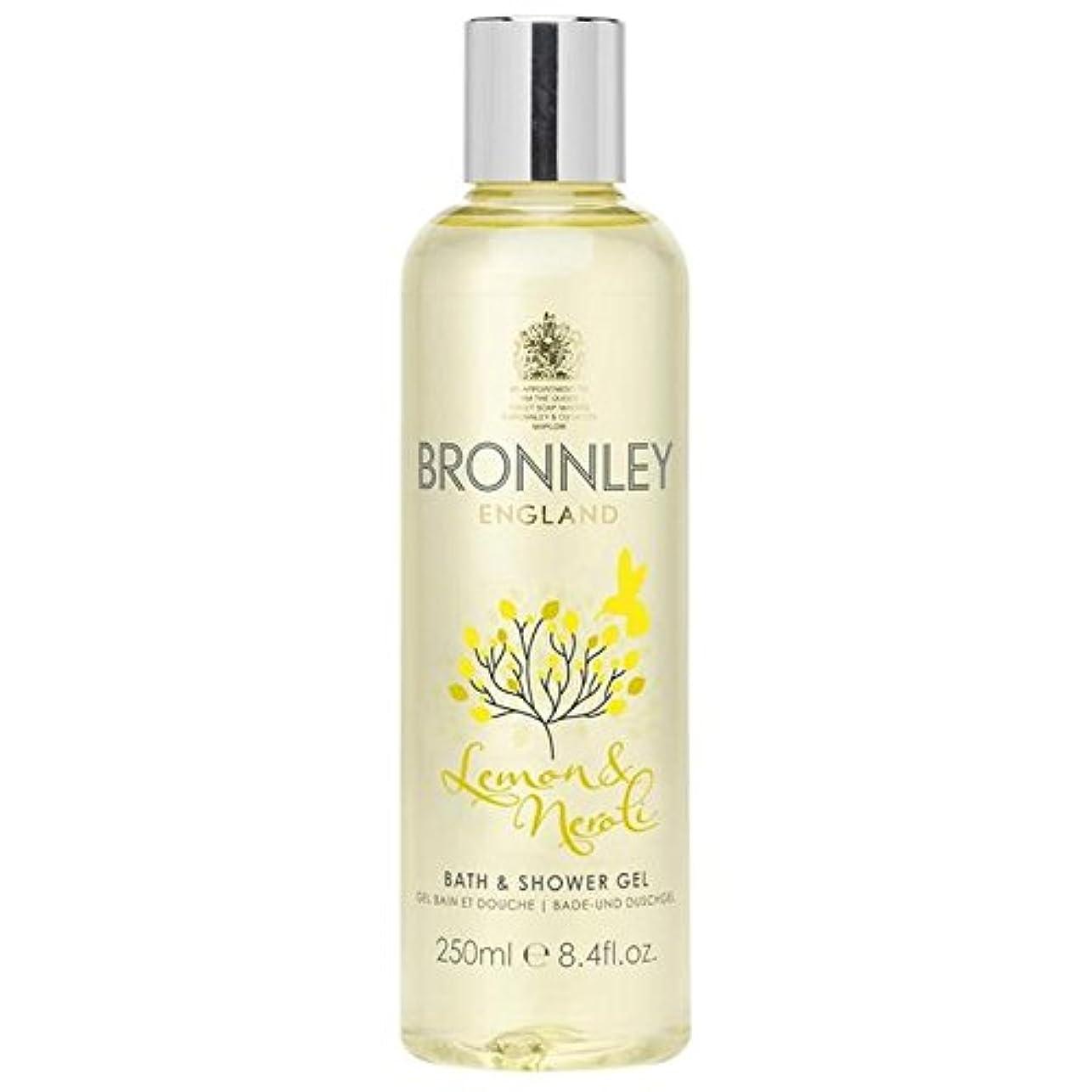 狂乱ビール踏みつけレモン&ネロリバス&シャワージェル250ミリリットル x4 - Bronnley Lemon & Neroli Bath & Shower Gel 250ml (Pack of 4) [並行輸入品]