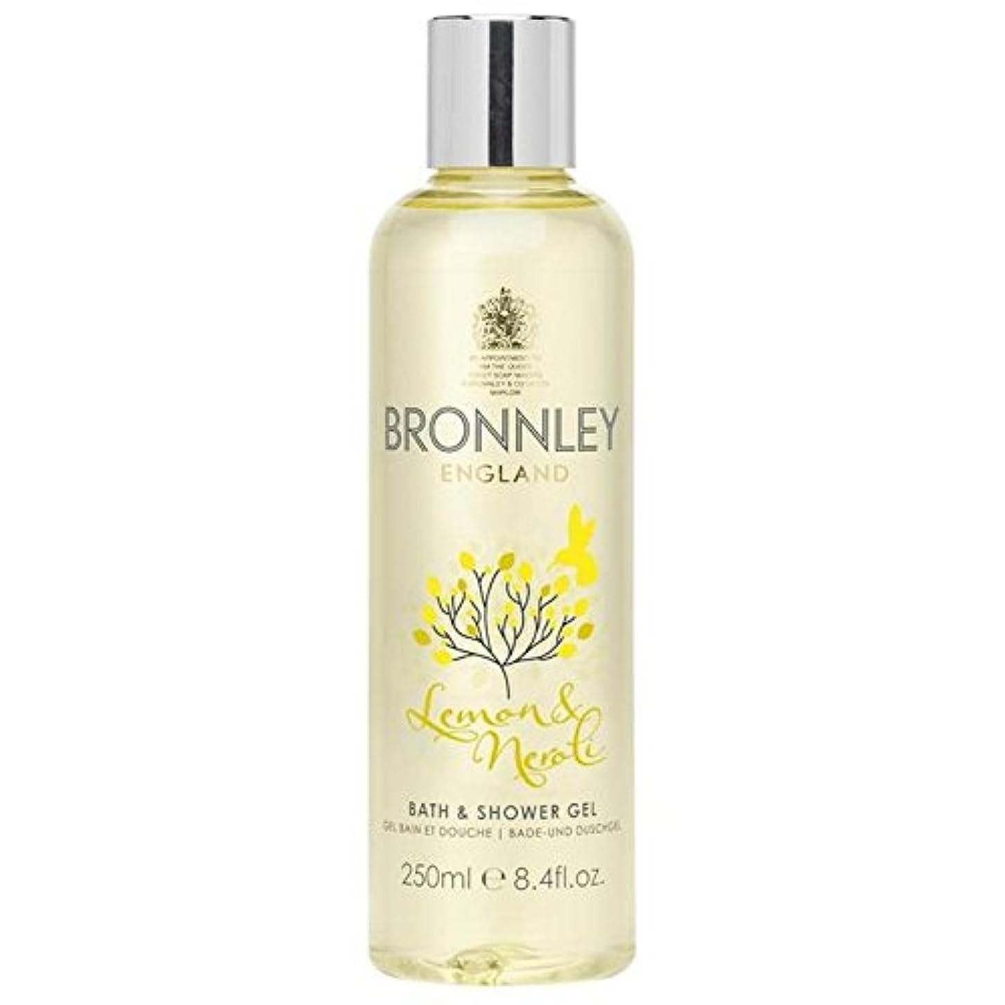 コンサルタント残りクリームレモン&ネロリバス&シャワージェル250ミリリットル x2 - Bronnley Lemon & Neroli Bath & Shower Gel 250ml (Pack of 2) [並行輸入品]