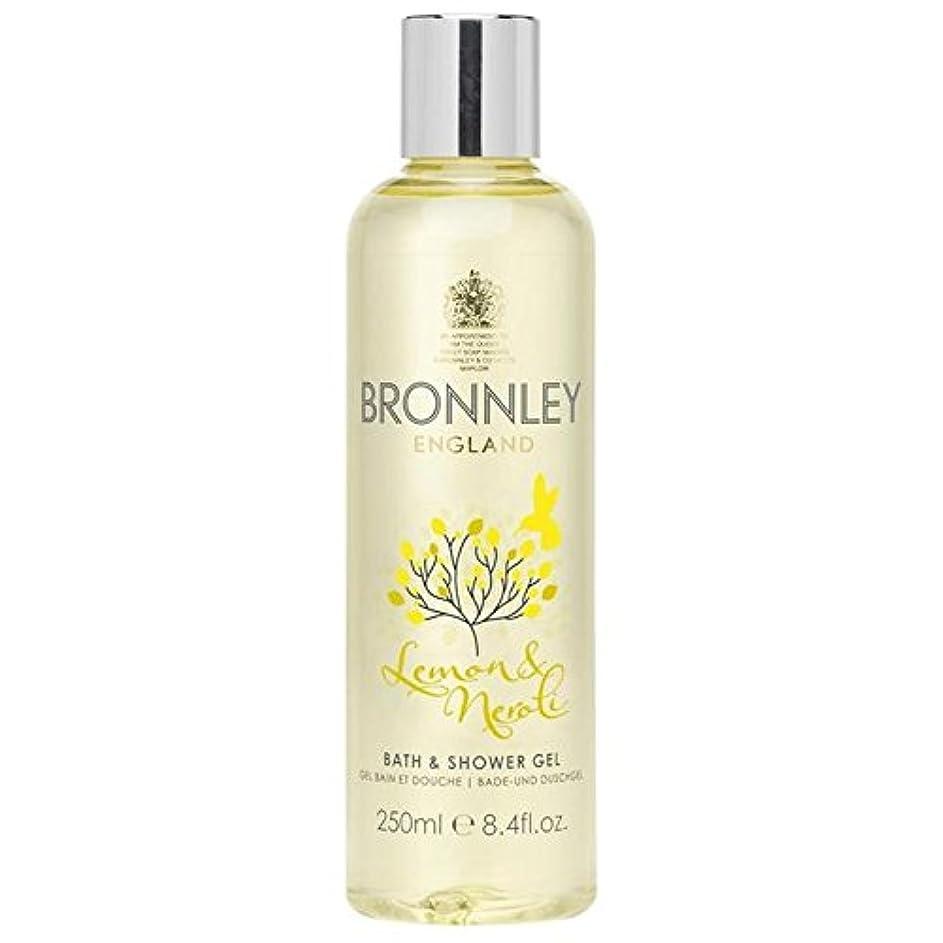 解任どちらも一過性レモン&ネロリバス&シャワージェル250ミリリットル x4 - Bronnley Lemon & Neroli Bath & Shower Gel 250ml (Pack of 4) [並行輸入品]