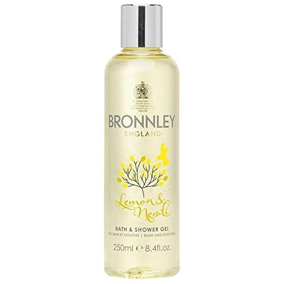 通信網マット情熱レモン&ネロリバス&シャワージェル250ミリリットル x4 - Bronnley Lemon & Neroli Bath & Shower Gel 250ml (Pack of 4) [並行輸入品]