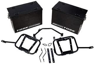 Tusk Aluminum Panniers with Pannier Racks Medium Black Fits 2008- 2015 KLR 650 Kawasaki Tusk part # 1467340018