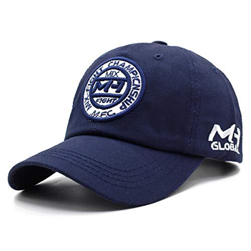 Gorra 100% algodón Marca Gorra de béisbol Hombres Mujeres Snapback Gorras Sombreros para Hombres Bone Casquette Gorras Hip Hop Dad Gorra de béisbol Gorra Ajustable Azul Marino