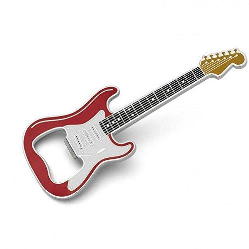 E-Gitarre Flaschenöffner mit Magnet in rot