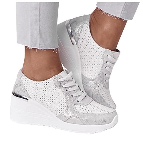 Briskorry Damen Keilabsatz Sandalen Sommer Vintage Schuhe Plattform Freizeit Sommerschuhe Strandsandalen Slippers Freizeit Rutschfest Schuhe Wedges Hausschuhe Slipper Freizeitschuhe