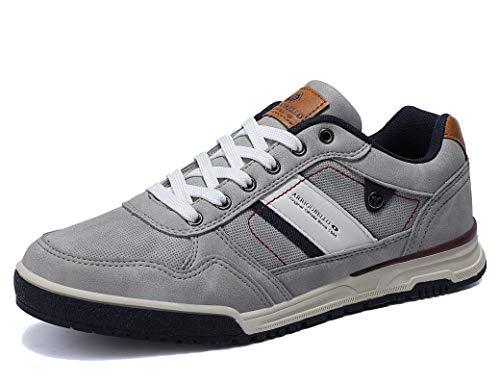 ARRIGO BELLO Freizeitschuhe Herren Sneaker Walkingschuhe Herrenschuhe Berufsschuhe Laufschuhe Atmungsaktiv Leichte Größe 41-46(Grau, Numeric_41)