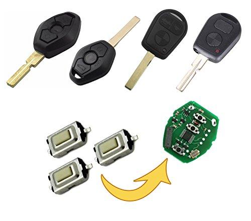 myshopx Microtaster Taster 6 Stück Fernbedienung Schlüssel Fernbedienung Taster Micro SMD Taster Autoschlüssel Smart MP08