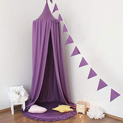 happygirr Canopy Mosquitera Canopy Cama para niños Mosquitera Cúpula Tienda de Juegos Bueno para bebé Interior Juego al Aire Libre Altura Canopy Materiales Ligeros 240cm Púrpura