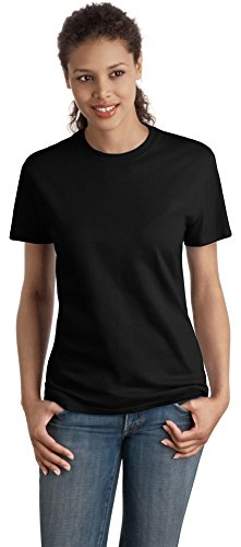 Hanes Women's Nano T-Shirt, Medium, Black