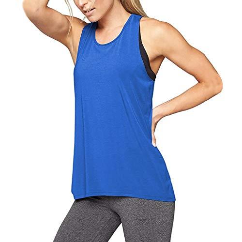 Débardeur Femme Sport, Manadlian Camisole Criss Cross Back Top Entraînement Yoga Gym Blouses Gilet Running Jogger Sport Vest Grande Taille