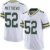 WLLIT NFL Football Jersey Packers # 12 Rodgers 52 21 87 Nelson Camiseta de fútbol de Manga Corta Para Hombre, Camiseta Deportiva de Manga Corta-C8-M