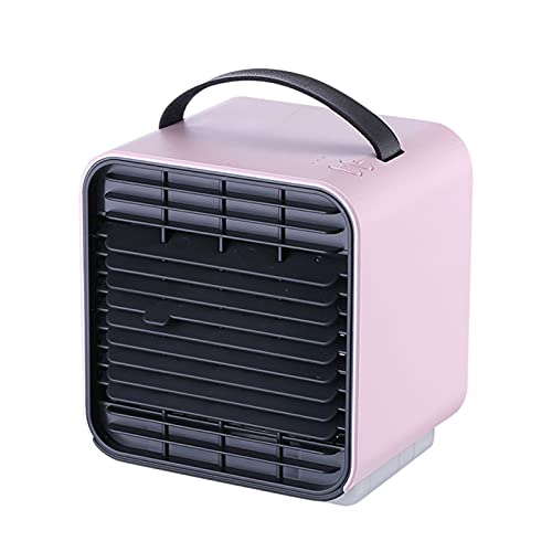 Air Conditioner Portable Air Cooler, The Mini Cooler Fan, Personal Space Coolers, Small Usb Humidifier Size Light Weight(Color:pink)