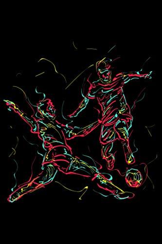 Abstrakte Kunst Fussball Torwart Liebhaber Fußballtrainer: DIN A5 Liniert 120 Seiten / 60 Blätter Notizbuch Notizheft Notiz-Block Lustige Fußball Fußballspieler Stürmer Geschenke