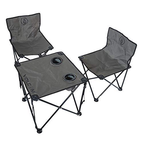 VOLCOM(ボルコム) [ アウトドアシリーズ ] パイプチェア テーブル セット 軽量 (折りたたみ) [ D67119JA / Circle Stone Beach Chair Set ] おしゃれ アウトドア キャンプ D67119JA OLV_オ