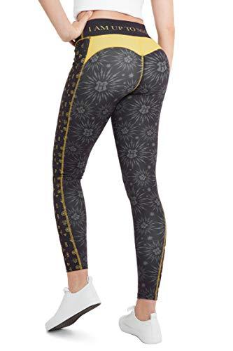 Harry Potter Leggins Mujer, Mallas de Deporte de Mujer Yoga Gimnasio, Ropa Deportiva Mujer, Regalos para Mujer y Adolescentes Talla XS-2XL (Negro, L)