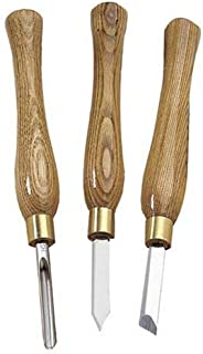 PSI Woodworking LCPM3 Lathe Penturning HSS Chisel Set, 3-Pieces