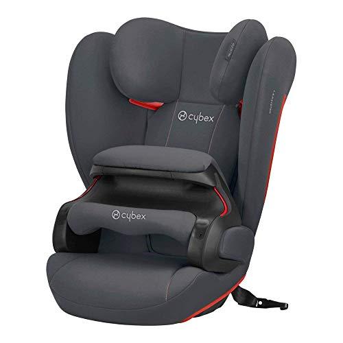 CYBEX Silver Kinder-Autositz Pallas B-Fix, Für Autos mit und ohne ISOFIX, Gruppe 1/2/3 (9-36 kg), Ab ca. 9 Monate bis 12 Jahre, Steel Grey