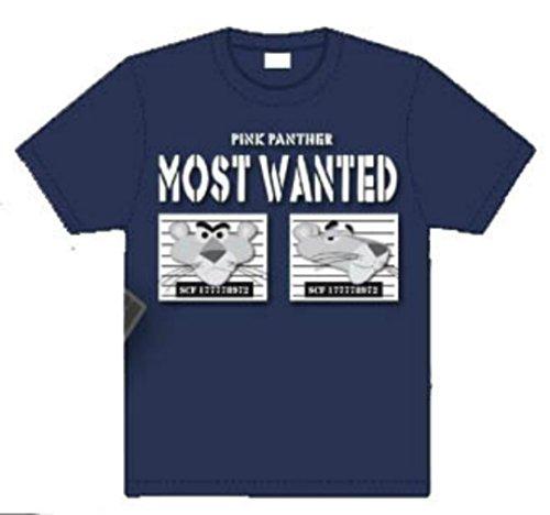 Passion Secret Pink Pamther Pantera Rosa Most Wanted T-Shirt azul S