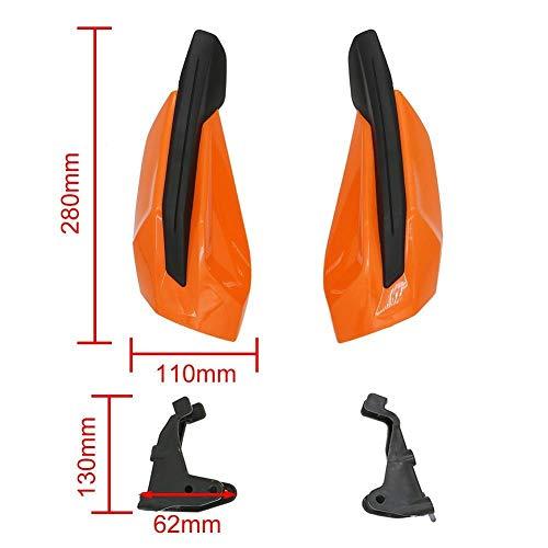 LuckyMAO Accesorios de decoración de Coches Motocicleta de Handguard Mano Escudo Protector Fit for KTM SX SXF EXC EXC-F 125 250 350 450 500 2014-2020 Handle Bar Embrague Protector (Color : Orange)