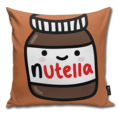 ghkfgkfgk Tumblr Nutella Kissenbezüge Accent Home Sofa Kissenbezug Kissenbezug Geschenk Dekorative 18X18 Zoll (45X45 cm)