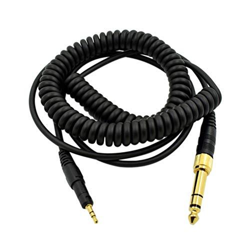 Xingsiyue Alambre de Auriculares Cable de Audio con 6.35MM Adaptador para Audio-Technica ATH-M50X M40X M70X- Cordel de Extensión Enrollado de Repuesto