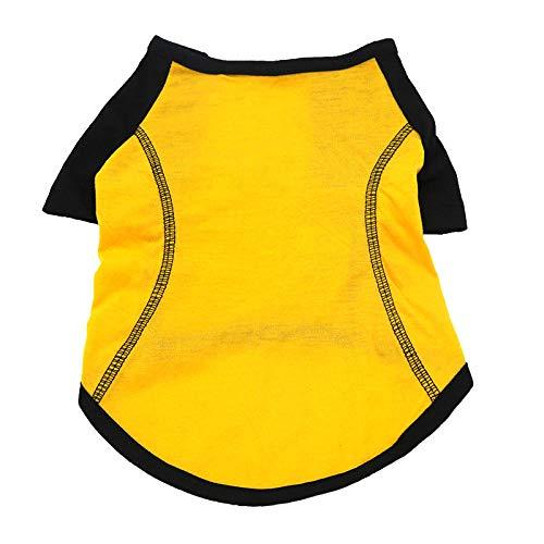ZLXUEFL Hundeshirthundet-Shirthaustierkleidunghundekleidungwestent-Shirthundekleidungshemd Sportbekleidung Kleine Mittelgroße Und Große Hunde Einfarbige Hundesportbekleidung@S_ Gelb