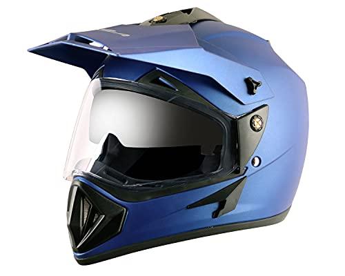 Vega Off Road OR-D/V-DMB_L Full Face Helmet (Dull Blue, L)