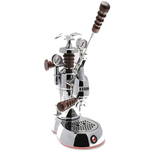 "La Pavoni ESPAB-16 Esperto ""Abile"" Espresso Machine, Chrome, 16 Cups Capacity, Larger 38 Ounce Boilers with Mounted Pressure Gauge"