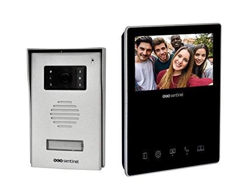Videoteléfono cableado - Video Portero - video de la puerta - puerta de videoteléfono - Video portero de construcción - Video portero 2 Hijo VisioKit 4,3 - PVF0032 SCS Sentinel, negro