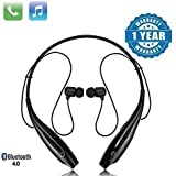 VOSAVO Bluetooth Wireless Headphones Sport Stereo Headsets Hands-Free with Microphone and Neckband